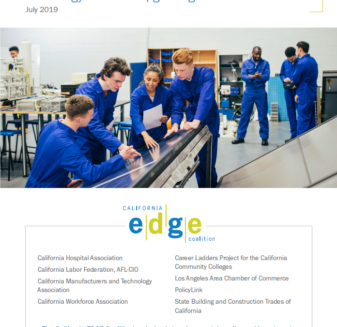 California EDGE Coalition Releases Policy Brief  on New Educational Approach to Serving Low-Skill Adult Learners