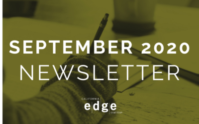 CA EDGE Coalition Monthly Newsletter, September 2020 Edition