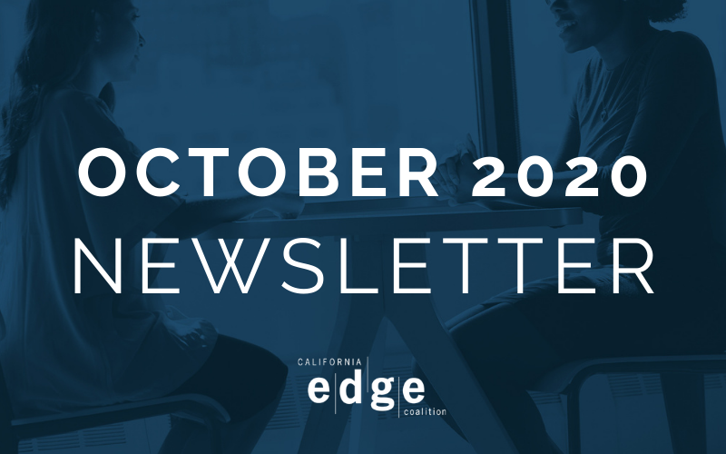 CA EDGE Coalition Monthly Newsletter, October 2020 Edition
