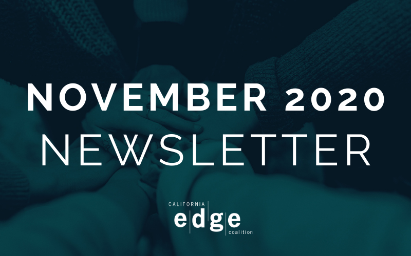 CA EDGE Coalition Monthly Newsletter, November 2020 Edition