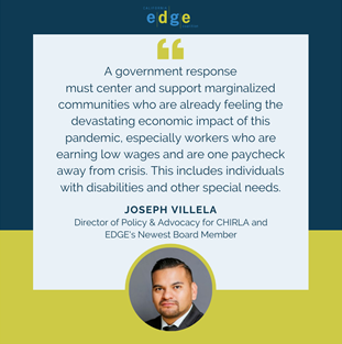 Meet EDGE's Newest Board Member, Joseph Villela, of CHIRLA – The Coalition for Humane Immigrant Rights