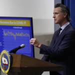 Governor Newsom at podium
