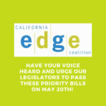 CA EDGE Coalition logo with message saying have your voice heard