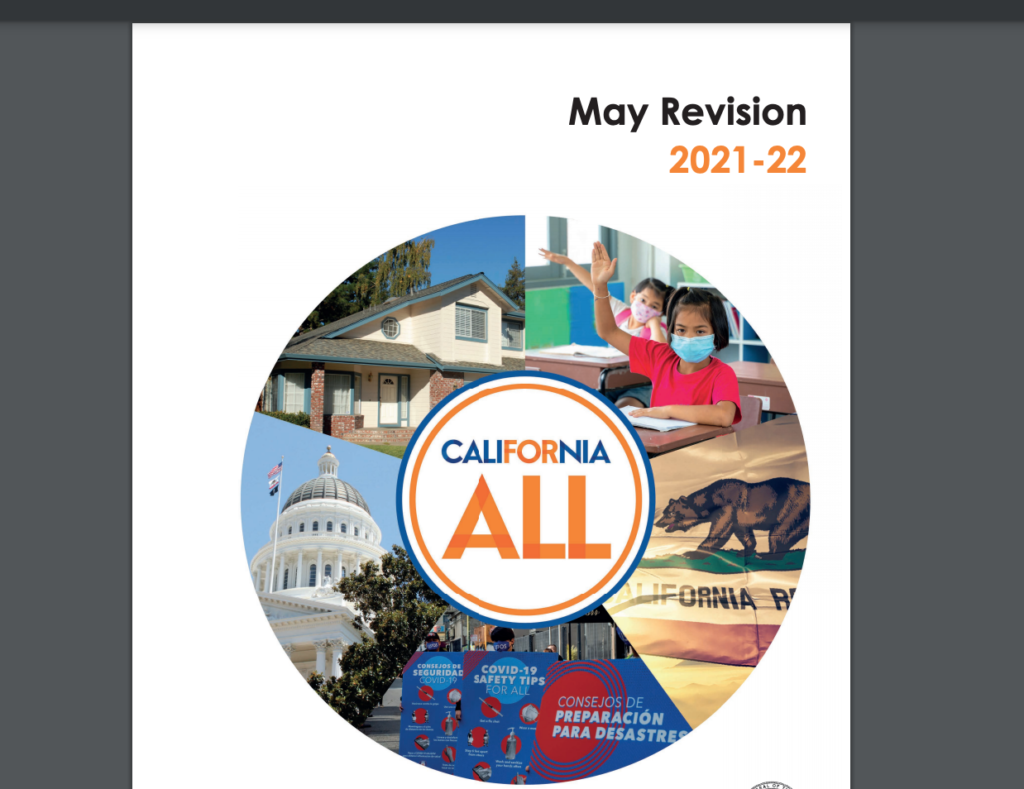 May Revision Cover image with California ALL logo